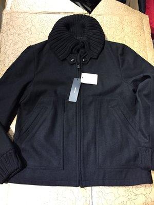 [變身館日本服飾]~MODIFIED~毛料~夾克~外套~立領~日本購入~全新現品~黑~M