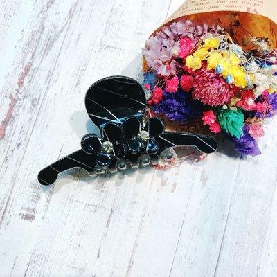 微奢華 香奈兒風 細緻線條 花朵花瓣 鯊魚夾 【KS32】壓克力塑質/ 髮夾髮飾爪夾抓夾 台中市