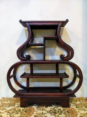 臺南城文創 雞翅木百寶架 您的寶貝收藏的好物件