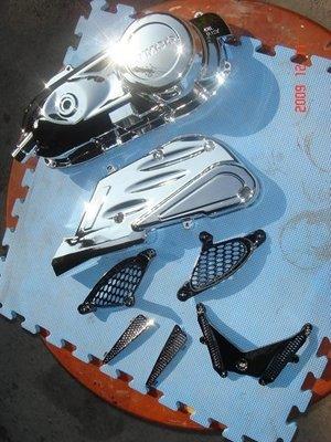 【有間烤漆】專業機車電鍍銀鋁的傳動蓋成品一律1100(新勁戰 Fighter QC G5 雷霆 FT RS GTR GT GR)