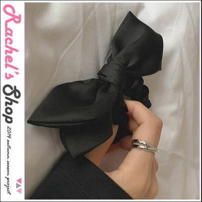 韓國空運*cherrykoko黑色絲質蝴蝶結髮圈[CK-CB02SYAC7]Rachel's Shop