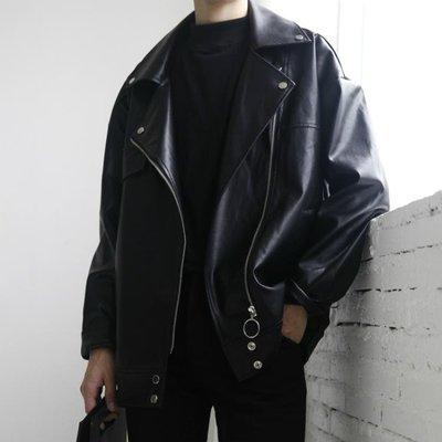 韓版ULZZANG短款機車皮衣男士青年帥氣PU皮夾克薄款修身外套潮流