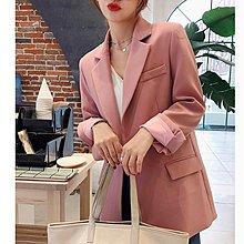 C Select Shop ♥  推薦入手 休閒通勤風純色西裝外套 修身顯瘦小西服 韓國設計款 粉色 黑色