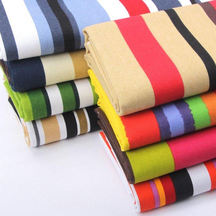 爆款--帆布布料純棉加厚老粗布布頭清倉條紋碎花布窗簾面料沙發布料#布料#綢緞#冰絲#絨布