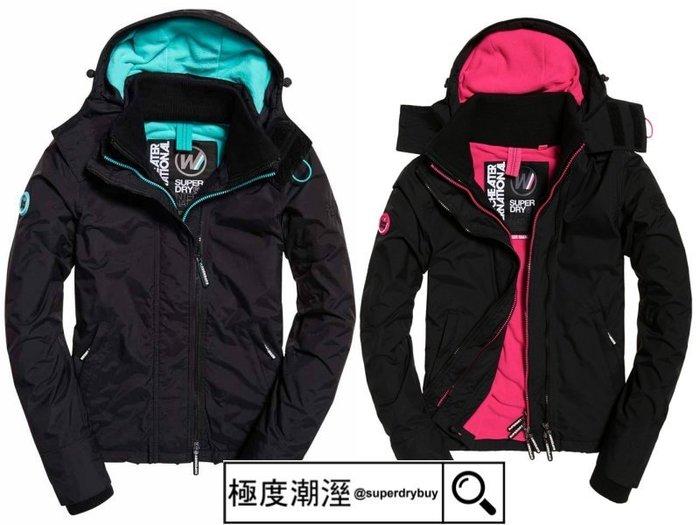 第九代 -S.WET- 正品現貨 極度乾燥 Superdry Arctic 風衣 外套 刷毛保暖 黑桃紅 黑薄荷綠