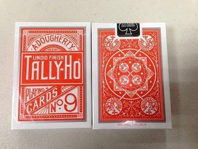 【意凡魔術小舖】TALLY-HO 撲克牌 扇型牌背 特製橘色牌背 orange紙牌