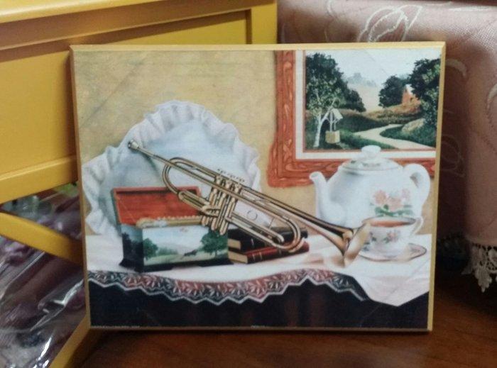 美生活館---全新鄉村生活雜貨--音樂 玫瑰 喇叭 下午茶 仿磨砂感 掛飾  壁飾/掛畫