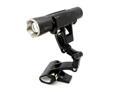 《信捷戶外》【F10】 手電筒萬用夾 工作燈夾 支架、釣魚、露營烤肉可用於Q5T6U2L2手電筒