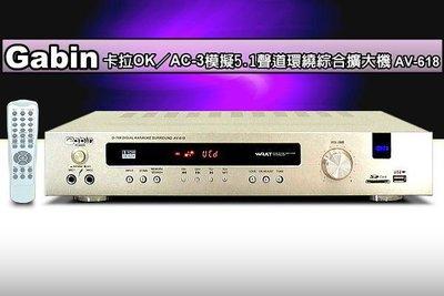 【優力購】GABIN【USB/SD卡/FM】卡拉OK/5.1環繞擴大機AV-618,全功能遙控.STANDBY待機