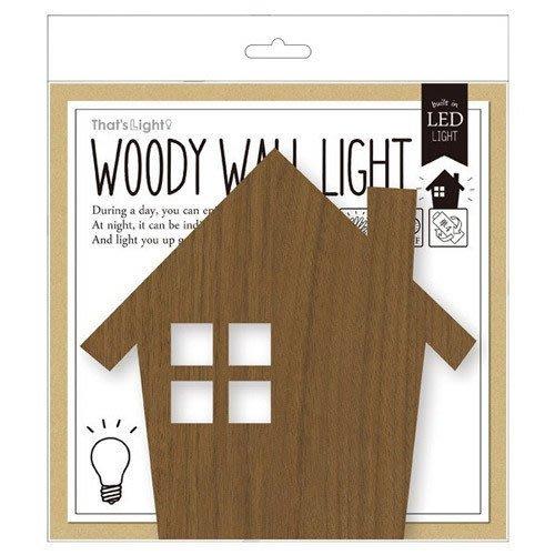 《齊洛瓦鄉村風雜貨》日本zakka雜貨 WOODY WALL LIGHT 自動LED 感應 小夜燈 玄關拍手感應燈