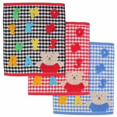 *現貨*日本製rainbow bear 彩虹熊 2019年款 紗布 純棉 方巾 手帕 小毛巾 33×39 格紋 彩色字母