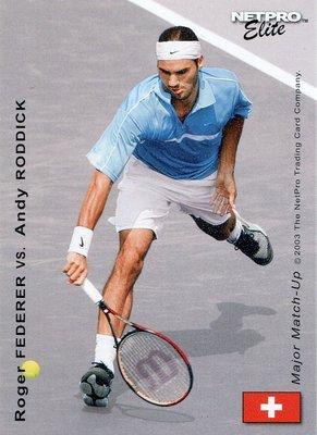 Roger Federer 費德勒 v.s. Andy Roddick 羅迪克 2003 NetPro 網球卡,免郵資!