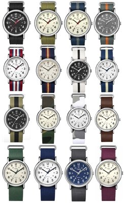 { POISON } TIMEX WEEKENDER 簡約設計 替換尼龍錶帶 18MM 20MM 22MM 24MM