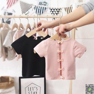短袖 女寶寶t恤短袖夏季新款露背純棉1-2-3-4-5歲兒童嬰幼兒女童上衣潮 2款
