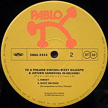 §小宋唱片§日版/Dizzy Gillespie&Arturo Sandoval-To A Finland Station/二手爵士黑膠