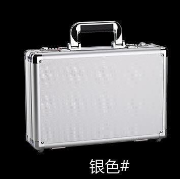 {興達1824}密碼鎖鋁合金工具箱子儀器收納多功能文件箱小號手提保險箱「銀色」TCQ