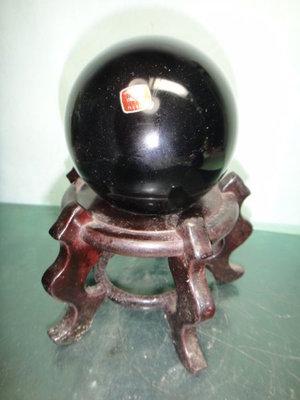 【競標網】天然漂亮正統墨西哥黑曜岩球0.95公斤85mm(雷射標籤)(網路特價品、原價3800元)限量一件