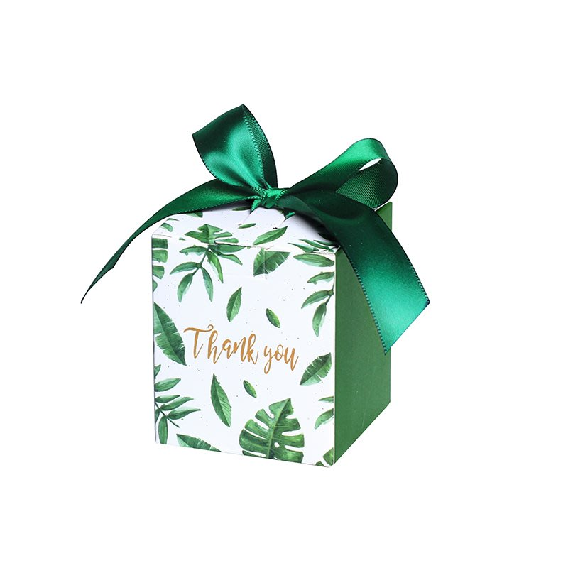 阿里家 億人 歐式創意方形喜糖紙盒回手禮盒婚禮結婚用品森系綠色喜糖盒/訂單滿200元出貨