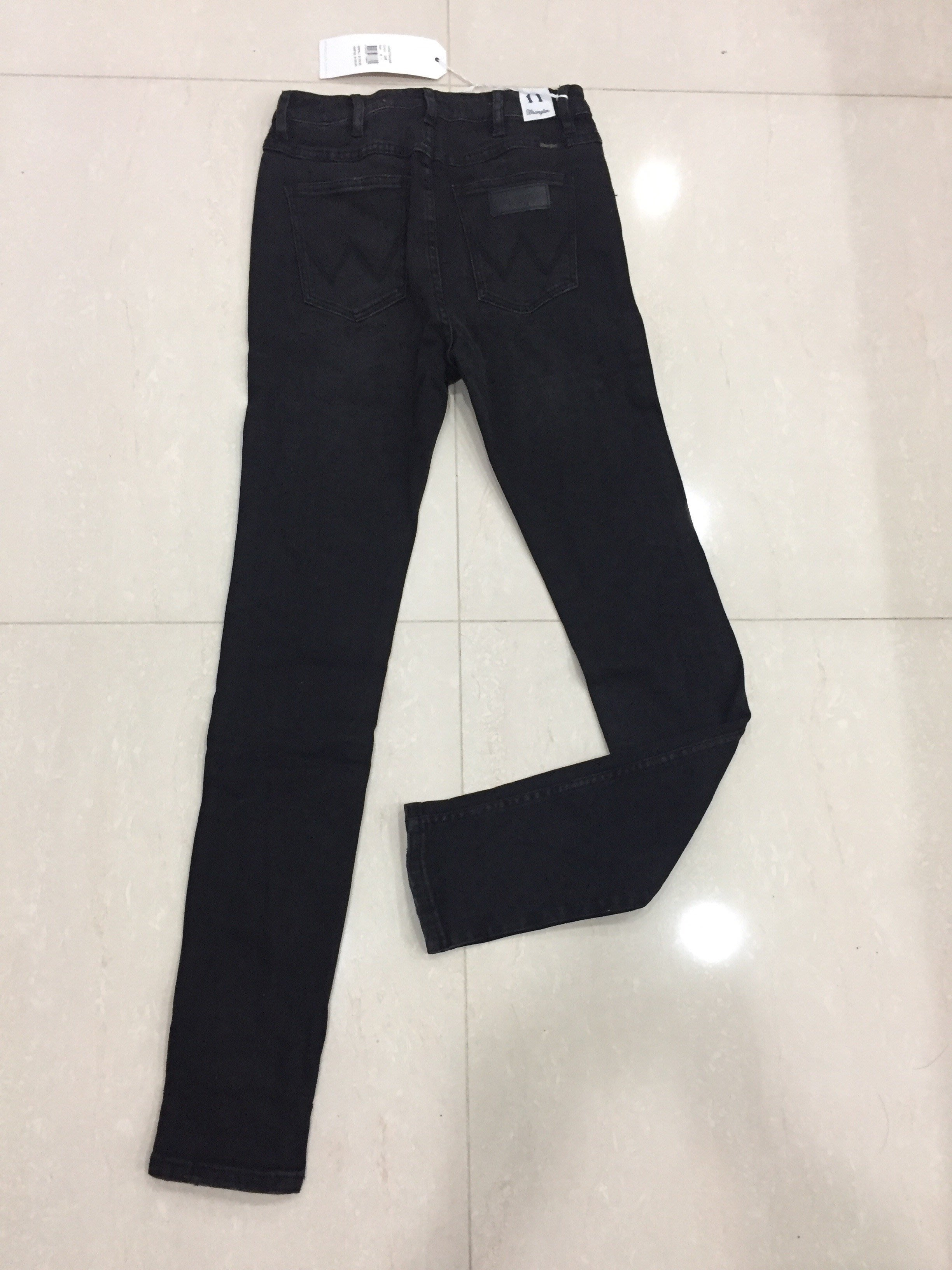 wrangler 藍哥 黑色高腰窄管褲11號 7hi twiggy high waist skinny fit (全新)1.5waist 28吋
