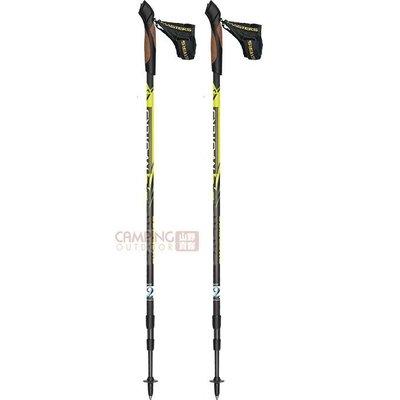 【山野賣客】義大利MASTERS登山杖 Exercise卡魯三節式健行杖(1對) 碳纖維鋁合金 MA01N0514