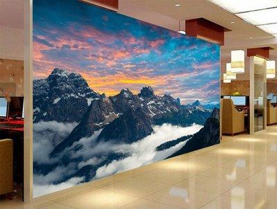 客製化壁貼 店面保障 編號F-715 高山雲海 壁紙 牆貼 牆紙 壁畫 背景牆 星瑞 shing ruei