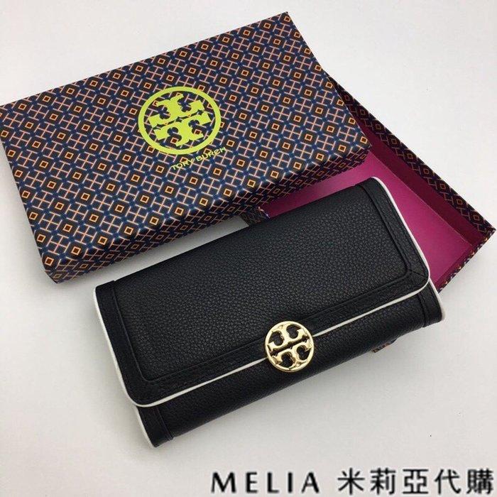 Melia 米莉亞代購 Tory Burch TB 0219 19ss 皮夾 長夾 錢包 拚色荔枝紋 10卡位