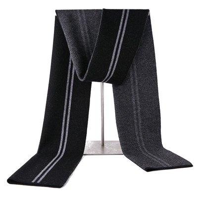 圍巾 羊毛 披肩-經典商務條紋針織男配件3色73wh16[獨家進口][米蘭精品]