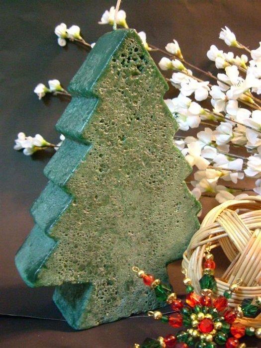 Little Ting Store:國外帶回 網路獨賣限量商品 情人節禮物 {蠟燭 擺飾}聖誕樹造型蠟蠋 約940g