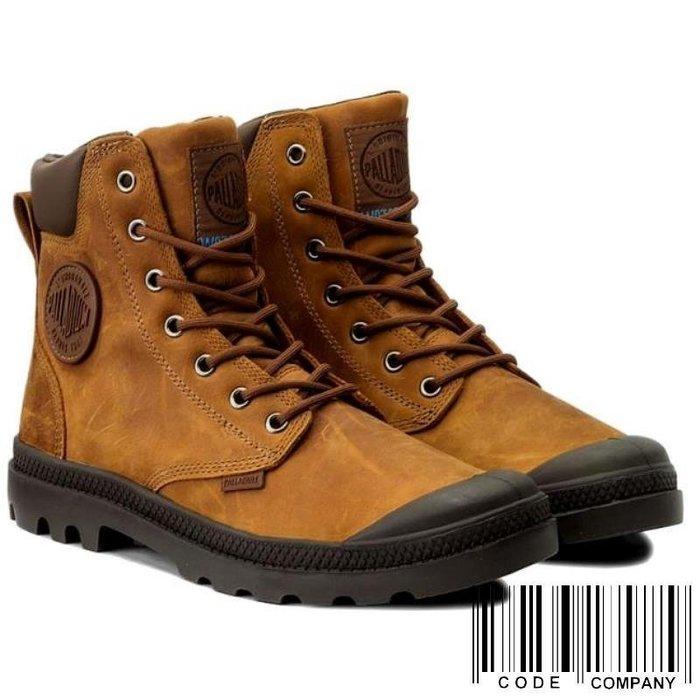 =CodE= PALLADIUM PAMPA CUFF WP LUX 防水皮革軍靴(焦糖橘)73231-733 英倫 女