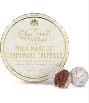 (預購)英國 CHARBONNEL ET WALKER Milk Marc de Champagne truffles 135g 牛奶香檳松露巧克力