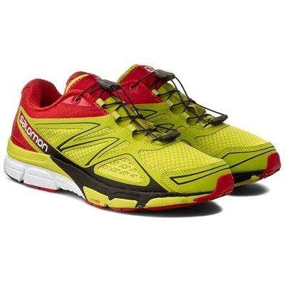 =CodE= SALOMON X-SCREAM 3D 野外慢跑鞋(黃紅黑) 368892 索羅門 健行 野跑鞋 避震 男