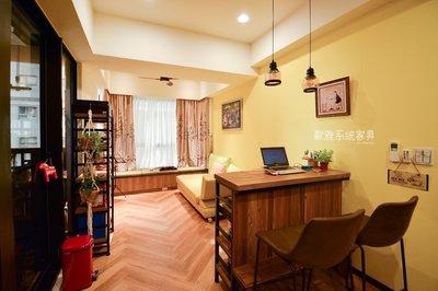 【歐雅系統家具】優雅恬靜小宅 系統櫃 窗簾 木地板 更衣室 全室設計