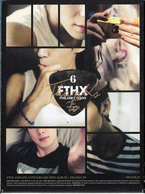 *【正價品】FTISLAND //THANKS TO~台灣獨占CD+DVD影音豪華限定B盤-無海報 -華納、2013年