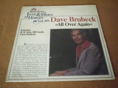 【杜比唱片】 黑膠唱片~  DAVE BRUBECK   //  ALL OVER AGAIN   *** LP ***