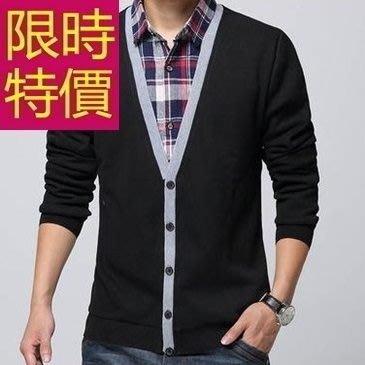 長袖毛衣別緻個性-非凡做舊假兩件式男襯衫 3色59ac23[韓國進口][米蘭精品]
