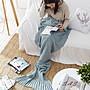 SAS 超夢幻人魚尾巴 美人魚毯 美人魚針織毯 懶人毯 針織毛毯 保暖毯 人魚毯 毛毯 毯子 針織毯 沙發毯 【639】