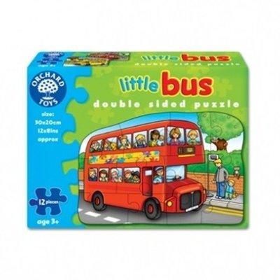 *小P書樂園* 【Orchard Toys】幼兒雙面拼圖 巴士 double sided little bus/B