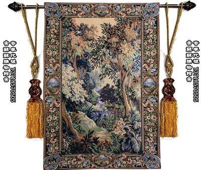 ❀蘇蘇購物館❀地中海掛毯畫 別墅純棉掛毯 客廳新古典壁毯軟裝 玄關裝飾畫 梵高