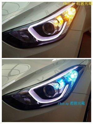 若居光電~現代ELANTRA 雙色LED定位燈.ELANTRA EX LED定位燈.LED方向燈.雙色LED方向燈