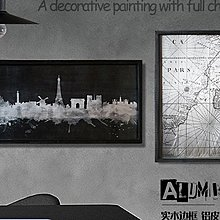 紐約公寓鋁皮黑板掛畫復古壁掛酒吧臥室床頭牆面裝飾畫建築工業風
