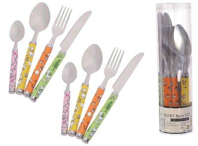 20-520-41-全球(日本)迪士尼樂園-100 Acre Wood維尼-西餐刀叉組(2套)(請先付款)