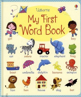 *小貝比的家*USBORNE: MY FIRST WORD BOOK /精裝/3~6歲/學習字典