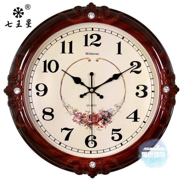 免運 可開發票 掛鐘 鐘錶掛鐘客廳歐式時尚圓形大氣創意電子石英鐘家用靜音時鐘掛錶 7色 〖桃子雜貨鋪〗