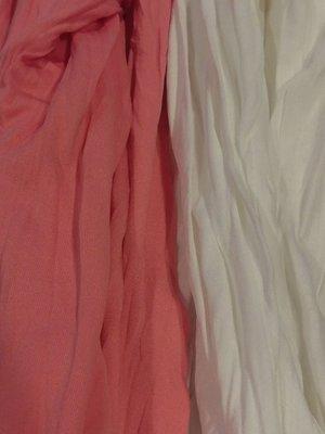 琳達購物中心-實品拍攝-舒適高領白+粉純色衣-不分年齡層秋冬必備內搭衣-2件110