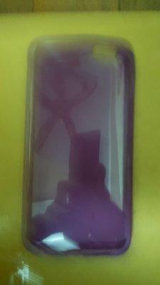 賣二手iphone plus 6/ iphone plus6S 軟殼(紫色透明塑膠手機殼)側翻式/ 保護殼 保護套 清水套 台中市