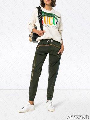【WEEKEND】 MIRA MIKATI Piping 束帶 休閒 長褲 綠色