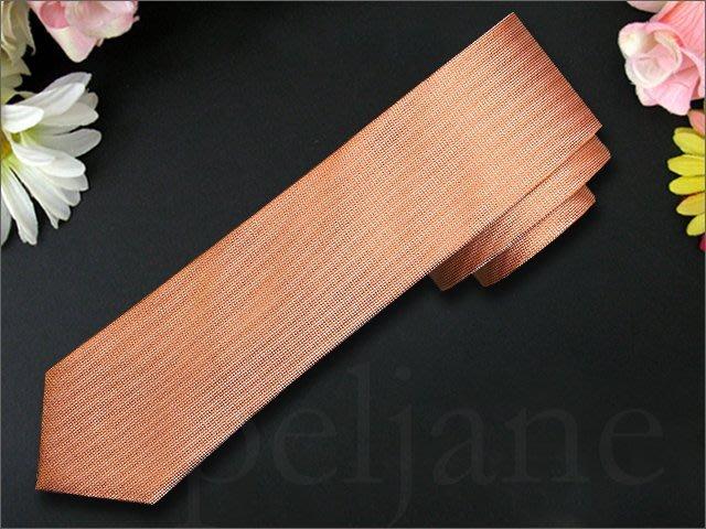 真品 Calvin Klein Tie CK 卡文克萊鲜明橙色 純絲素面 窄版+點狀寬版手打領帶 共兩條