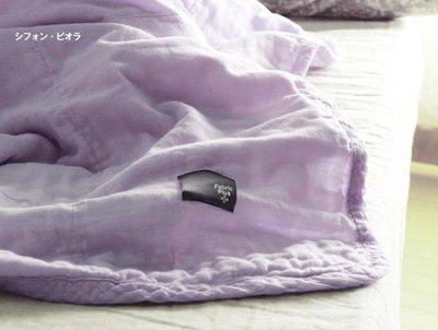 日本製 Fabric+ 銷售4千多條,純棉100% Gauze ket 五重紗 140*210 薄被 涼被 柔綿 輕盈 單人加長  (淡紫)