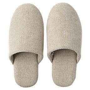 [熊熊之家2] 保證全新正品 MUJI 無印良品 麻綾織舒壓拖鞋  M L