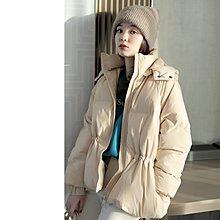 『 筱涵 日系美學衣飾 』抗凍強貨 90白鵝絨記憶面料抗皺腰部抽繩設計可脫卸帽 鵝絨服